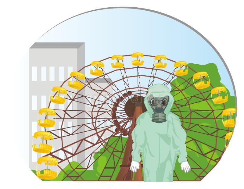Jour ensoleillé à Chernobyl illustration stock