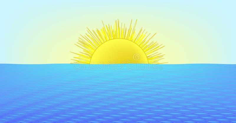 Jour ensoleillé à la mer (format d'AI procurable) illustration libre de droits