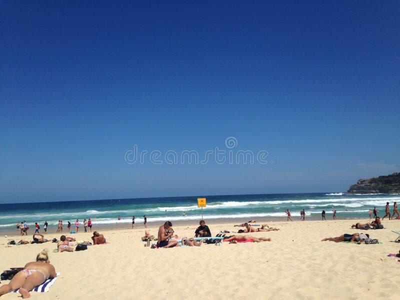 Jour ensoleillé à la plage images libres de droits