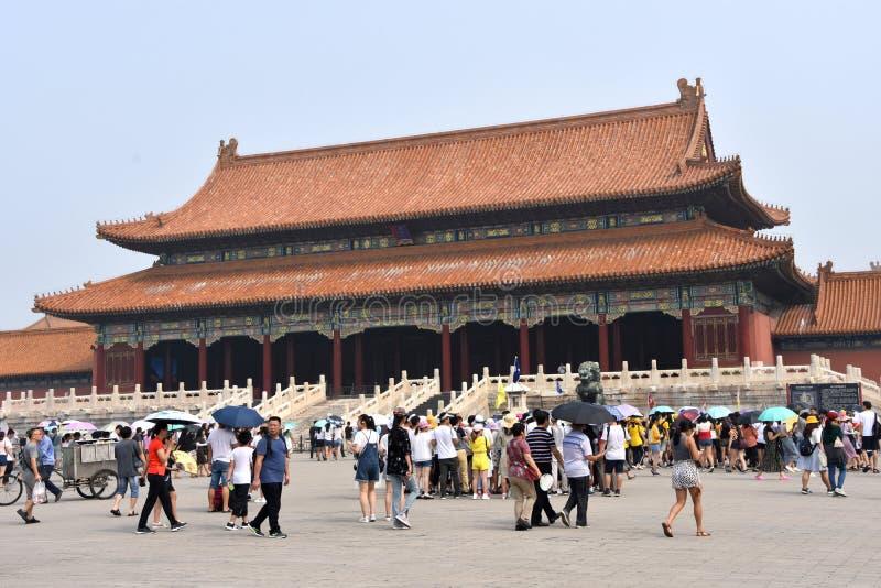 Jour ensoleillé chez le Cité interdite, Pékin, Chine photos stock