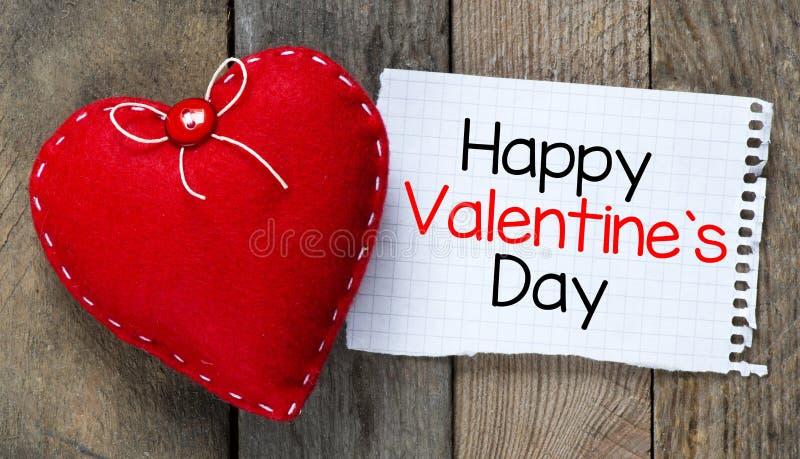 Jour et coeur de valentines heureux photo stock