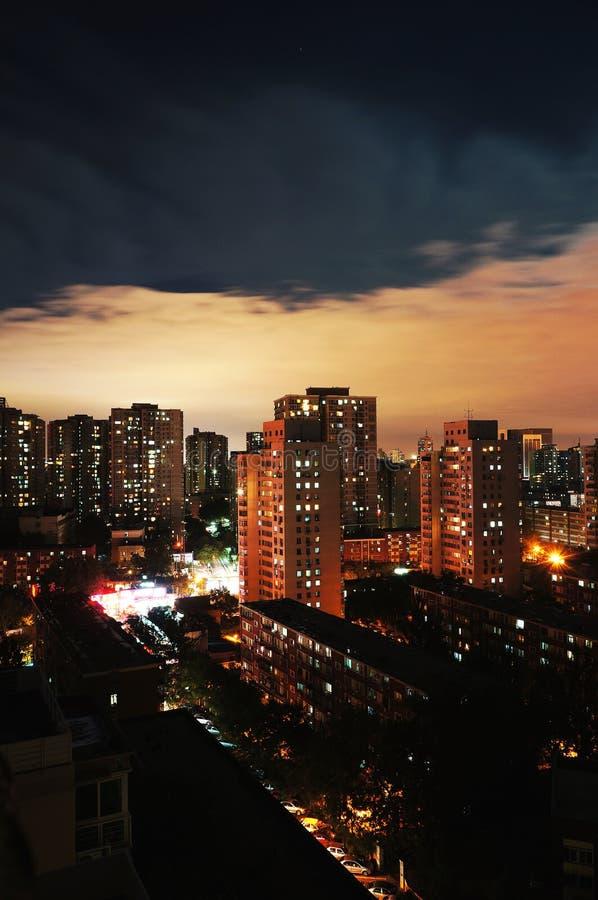 Jour Et Nuit, Pékin Images stock
