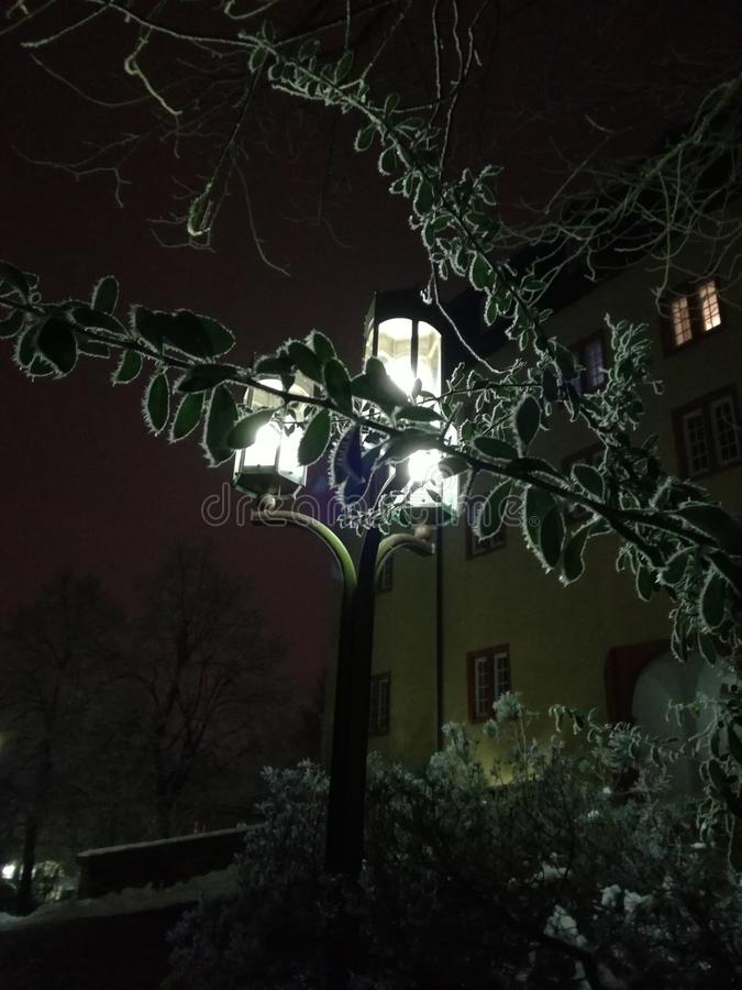 Jour froid la nuit photo libre de droits