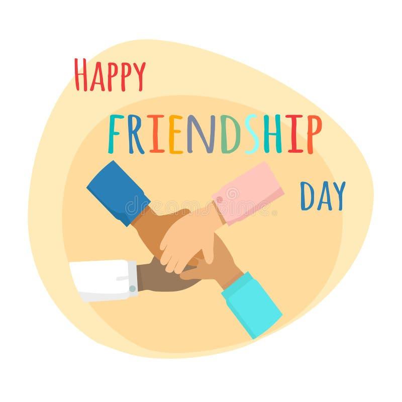 Jour heureux d'amitié Amitié d'Inernational illustration stock