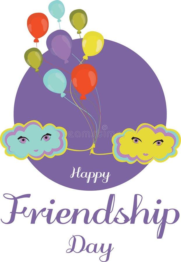 Jour heureux d'amitié Joyeuse bannière Vecteur illustration stock