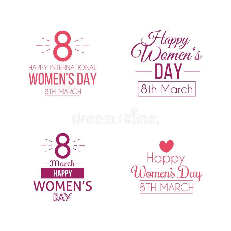 Jour heureux de femmes illustration libre de droits