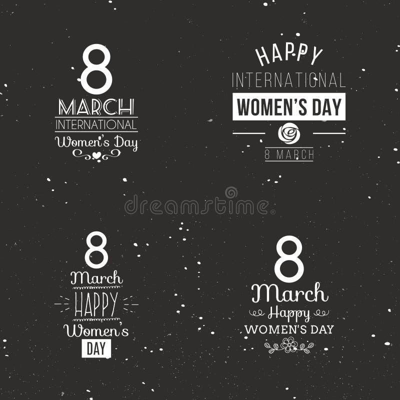 Jour heureux de femmes illustration de vecteur