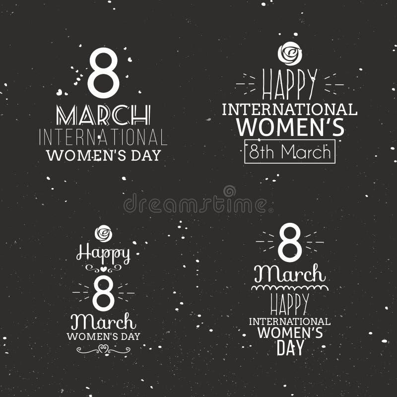 Jour heureux de femmes illustration stock