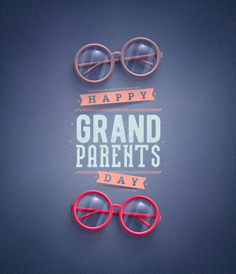 Jour heureux de grands-parents illustration de vecteur