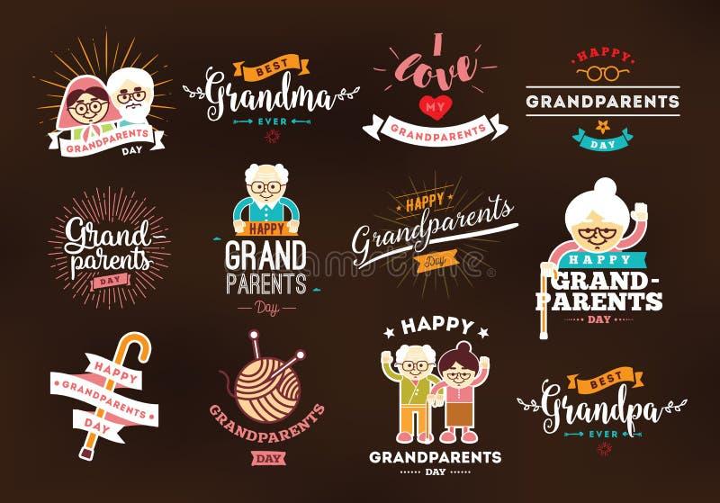 Jour heureux de grands-parents illustration libre de droits