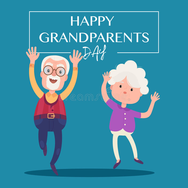 Jour heureux de grands-parents illustration stock