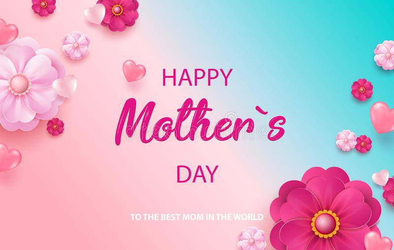 Jour heureux de la mère s Vente de vacances Illustration de vecteur illustration de vecteur