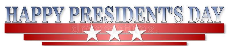 Jour heureux de présidents illustration de vecteur