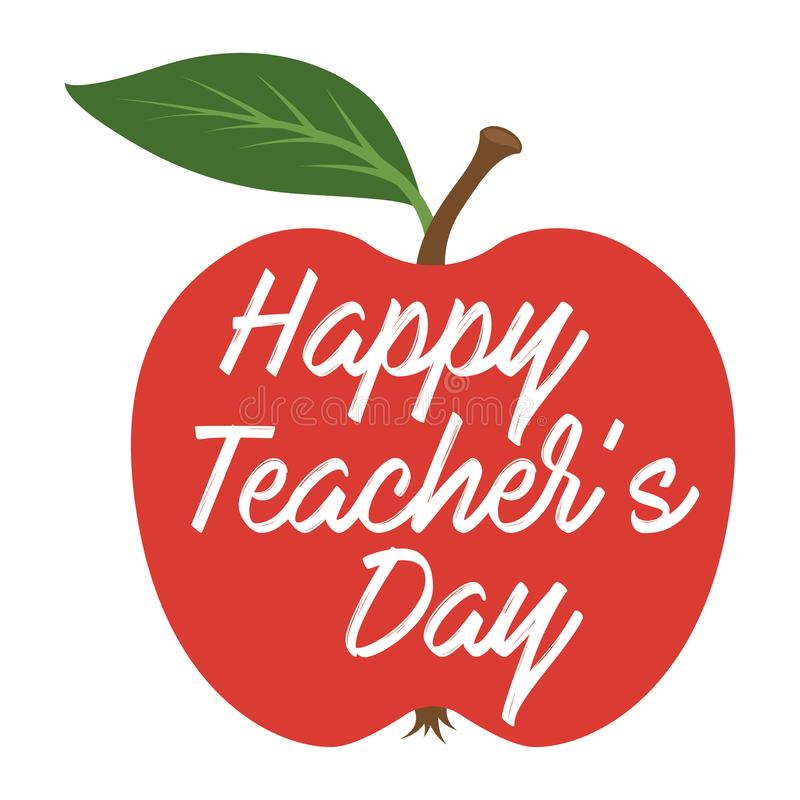 Jour heureux de professeurs Carte de voeux illustration stock