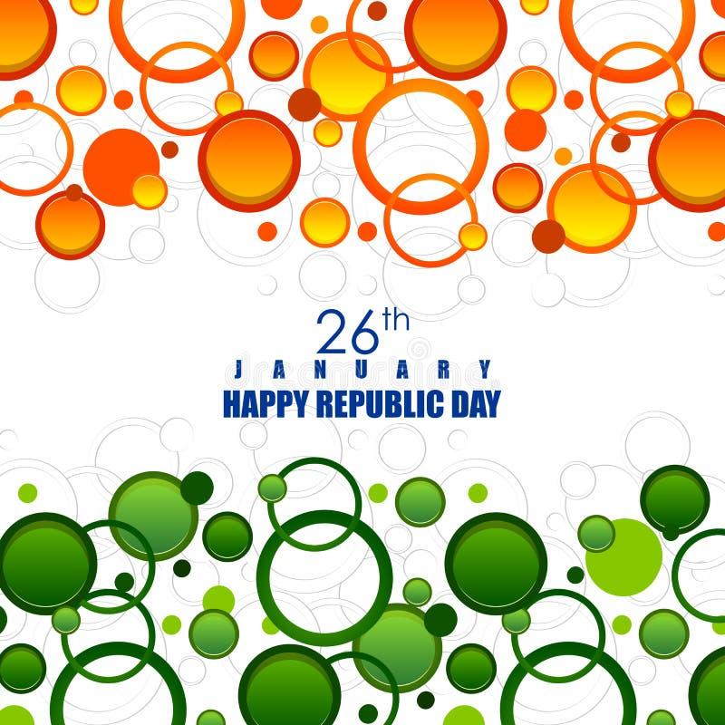 Jour heureux de République de fond tricolore d'Inde pour le 26 janvier illustration de vecteur