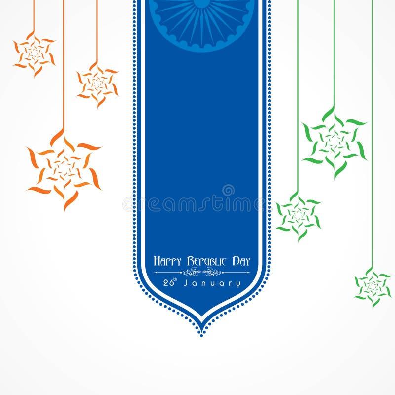 Jour heureux de République de vecteur d'illustration de l'Inde, conception d'affiche illustration libre de droits