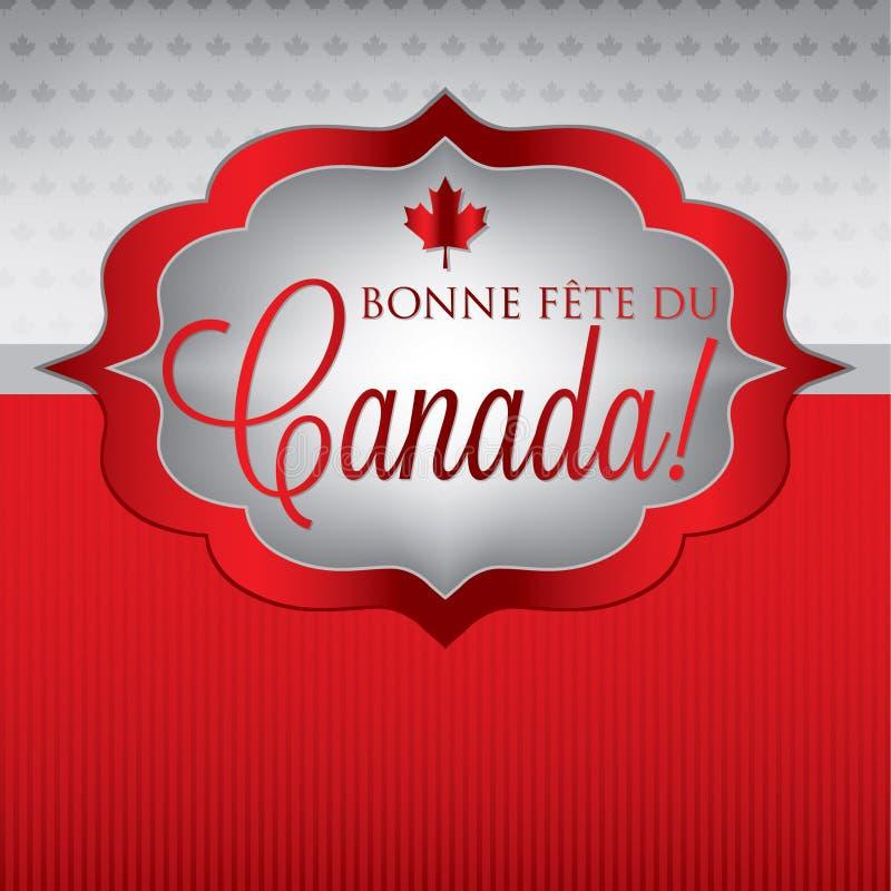 Jour heureux du Canada ! illustration stock