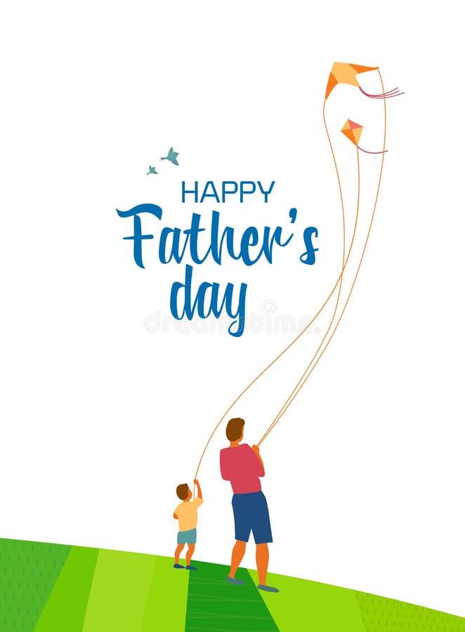 Jour heureux du ` s de père illustration stock