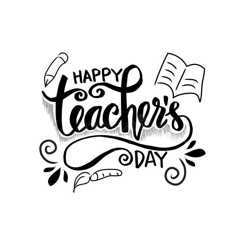 Jour heureux du ` s de professeur illustration de vecteur