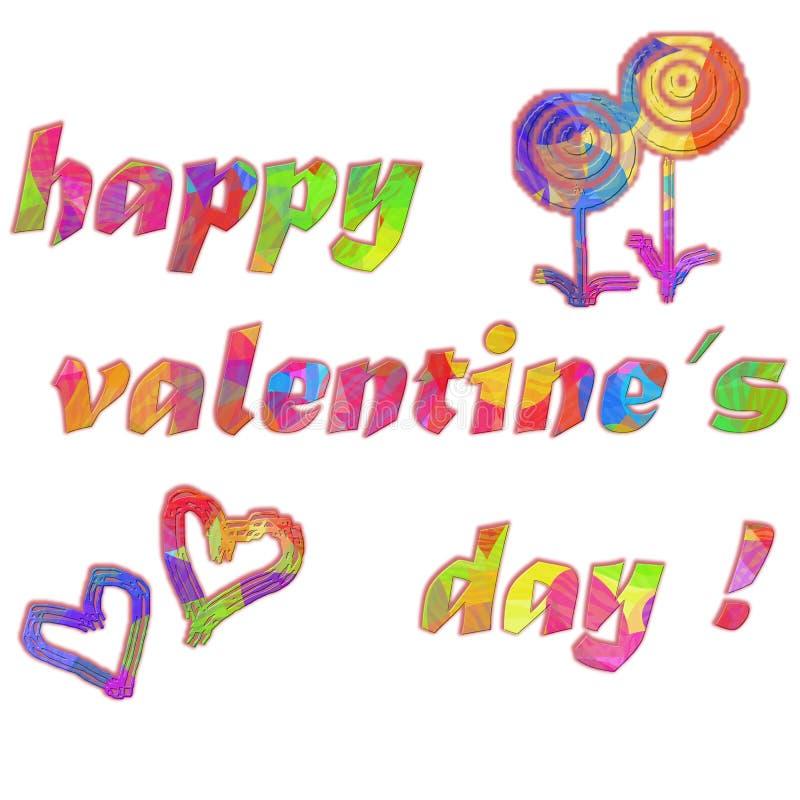 Jour heureux du `s de Valentine images stock