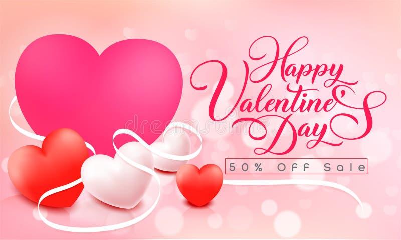 Jour heureux du `s de Valentine illustration libre de droits