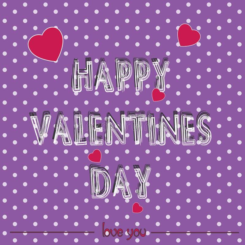 Jour heureux du ` s de Valentine de carte illustration libre de droits