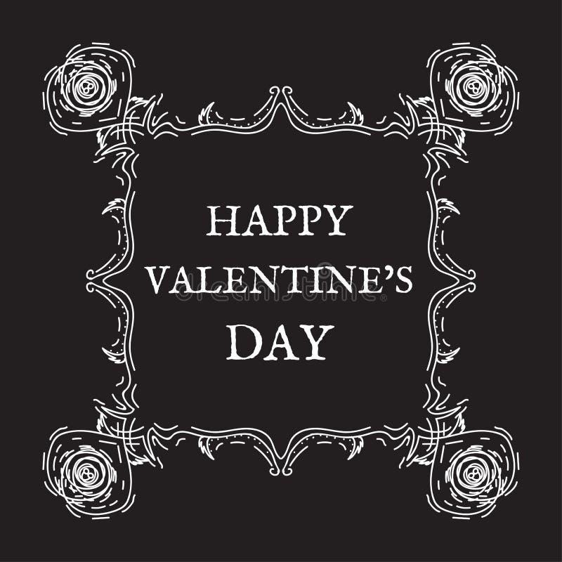 Jour heureux du `s de Valentine Vintage, rétro style photos libres de droits