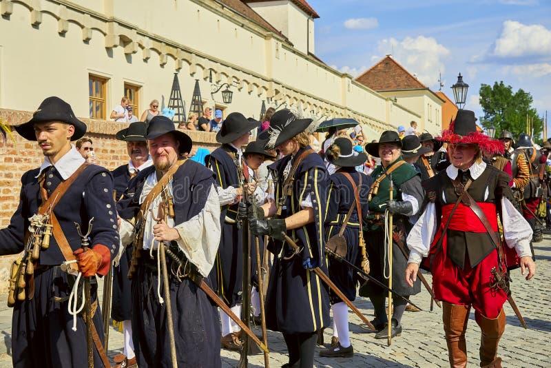 Jour historique de reconstitution de Brno photographie stock