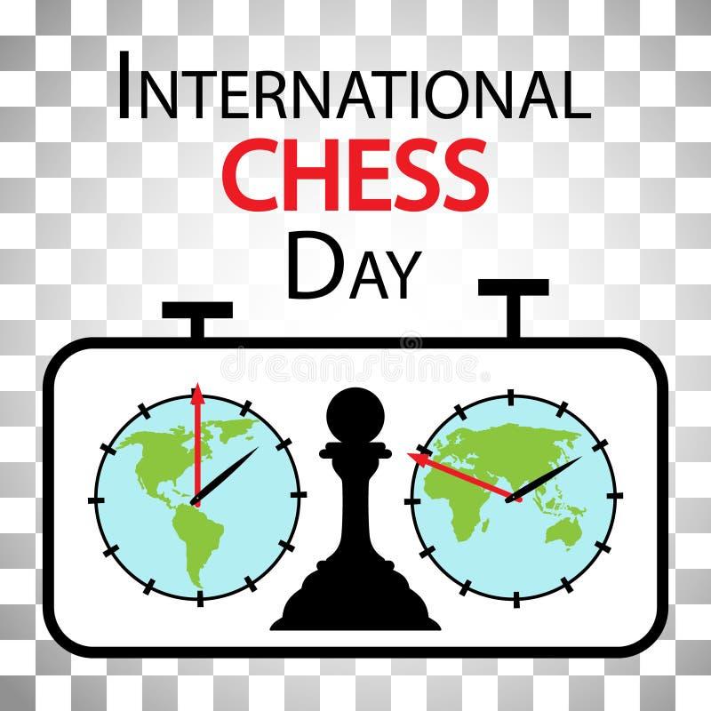 Jour international d'échecs illustration stock
