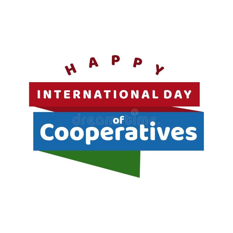 Jour international d'illustration de conception de calibre de vecteur de célébration de coopératives illustration libre de droits