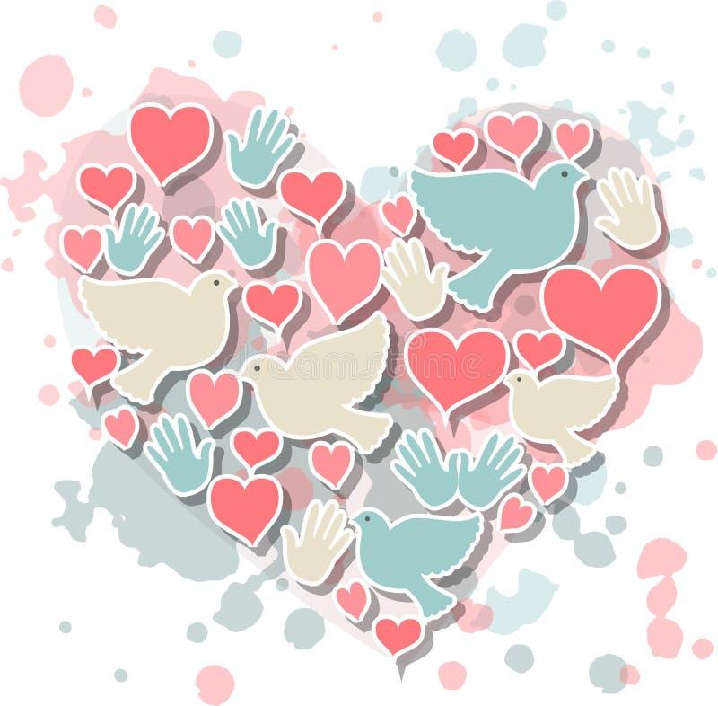 Jour international d'illustration de paix illustration de vecteur