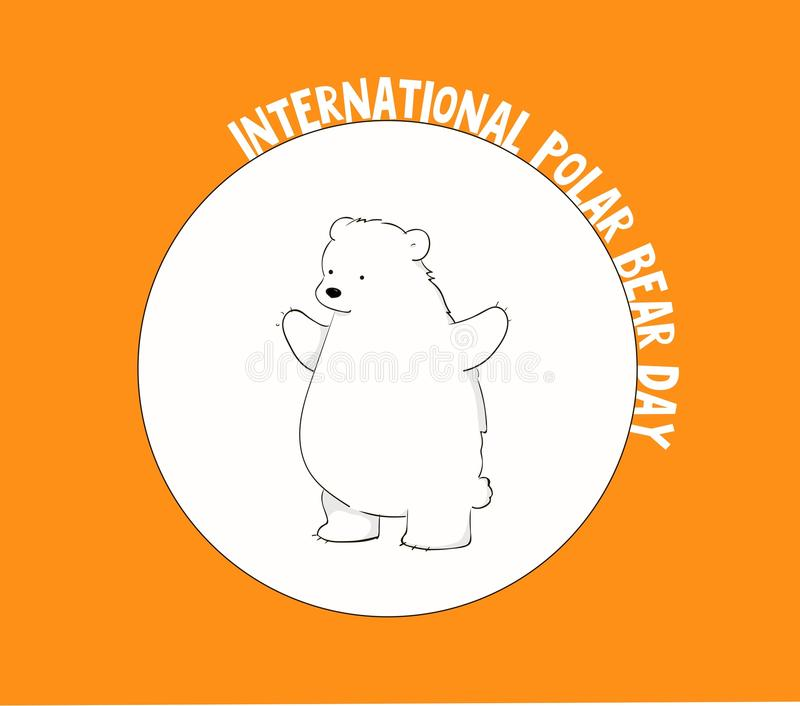 Jour international d'ours blanc image stock