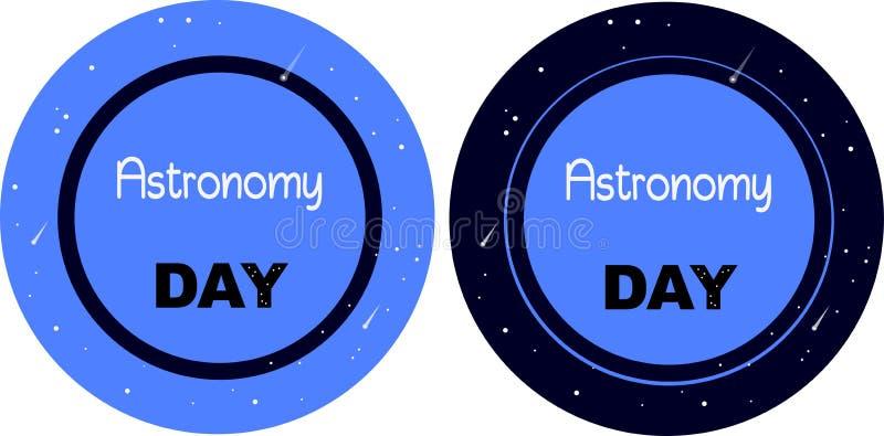 Jour international de ciel d'astronomie et d'étoiles de BLANC illustration libre de droits