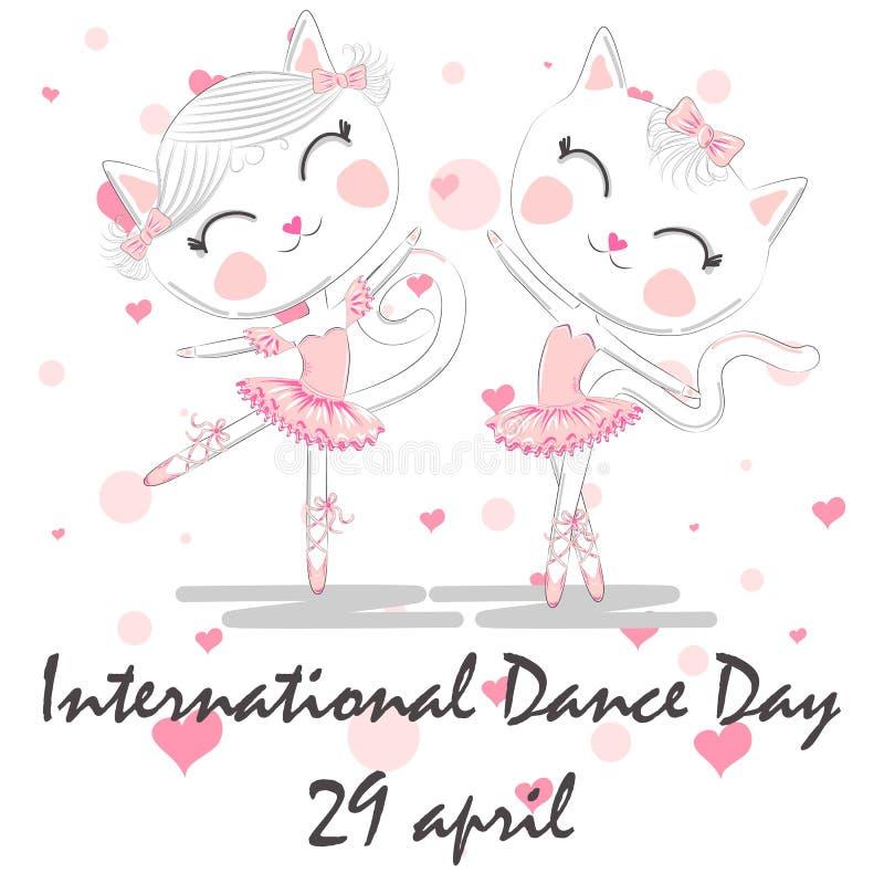 Jour international de danse 29 avril Calibre de conception, ou carte de voeux illustration de vecteur