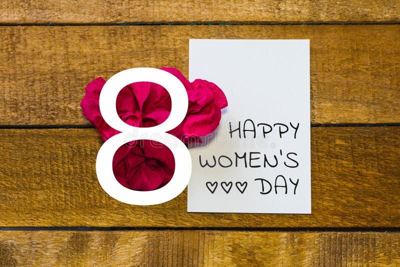 Jour international de femmes Carte de voeux photos stock