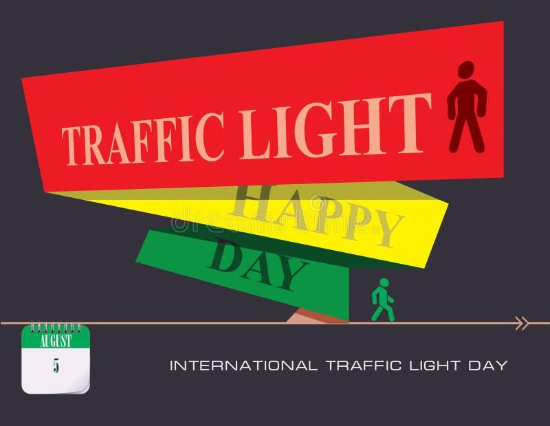 Jour international de feu de signalisation de carte postale illustration de vecteur