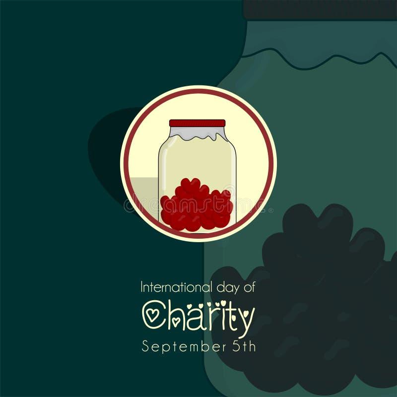 Jour international de la charit? illustration stock