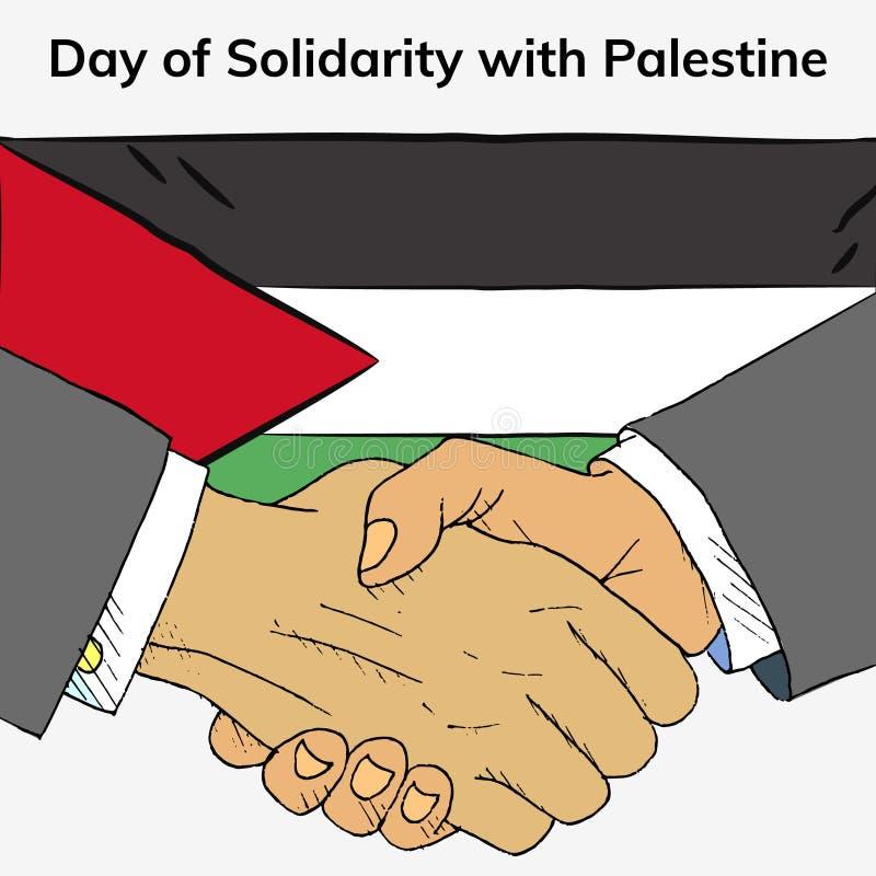 Jour international de la solidarité avec les personnes palestiniennes illustration libre de droits