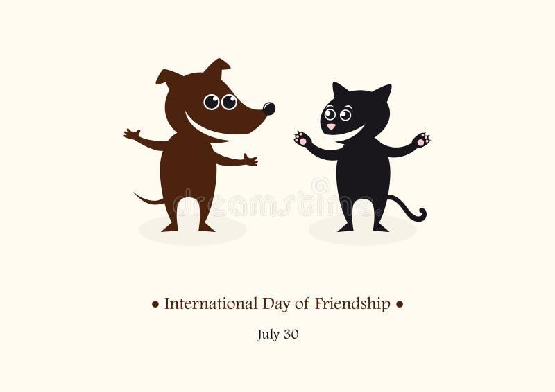 Jour international de vecteur d'amitié illustration stock