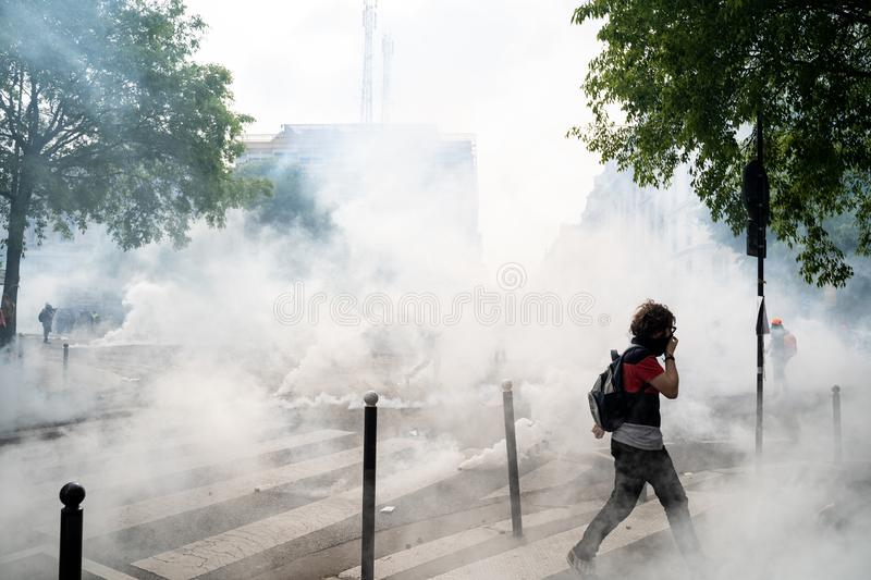 Jour international de Workers' à Paris photographie stock libre de droits