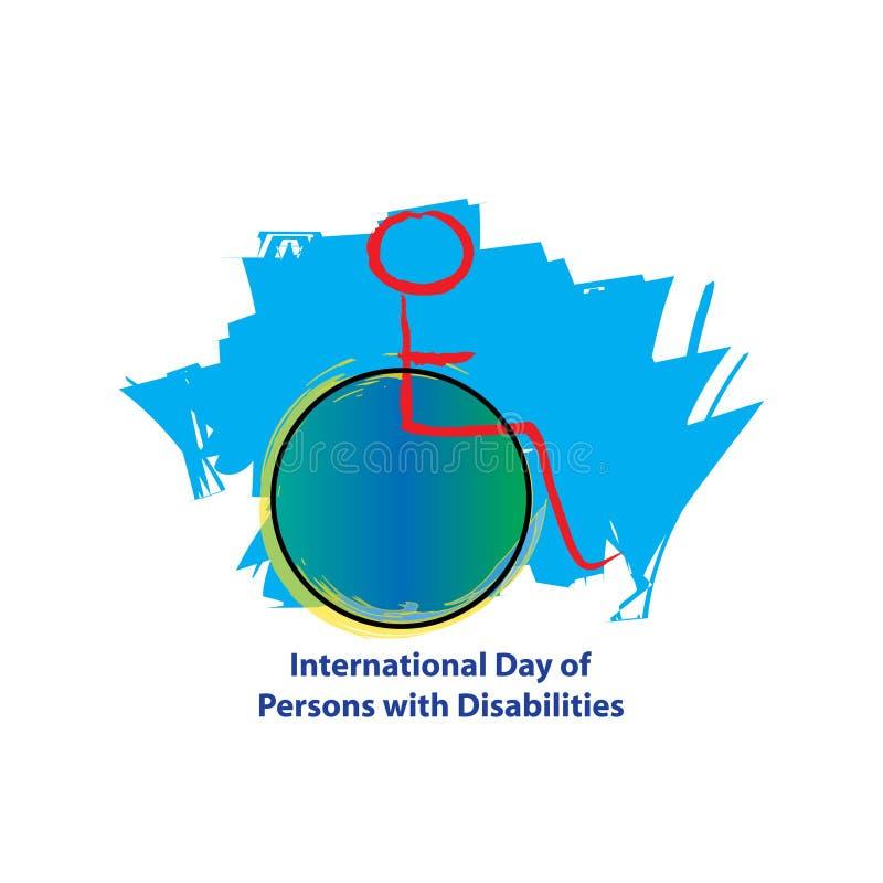 Jour international des personnes avec des incapacités illustration de vecteur