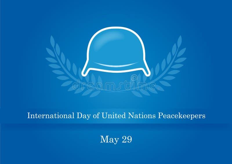 Jour international des soldats de la paix des Nations Unies illustration stock