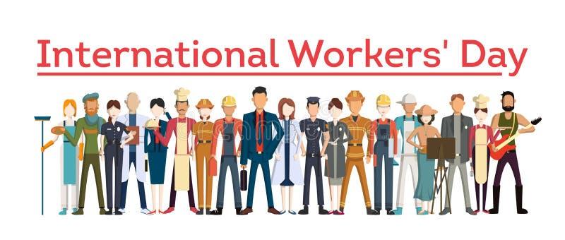 Jour international du ` s de travailleur illustration stock