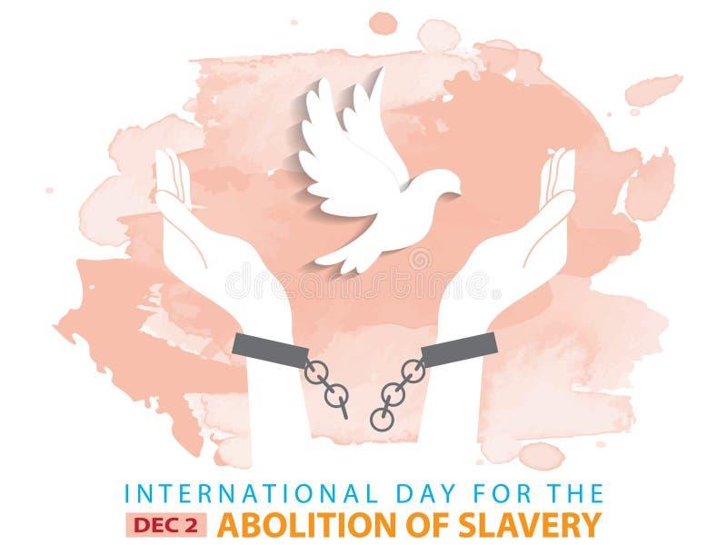 Jour international pour l'abolition de l'esclavage illustration libre de droits