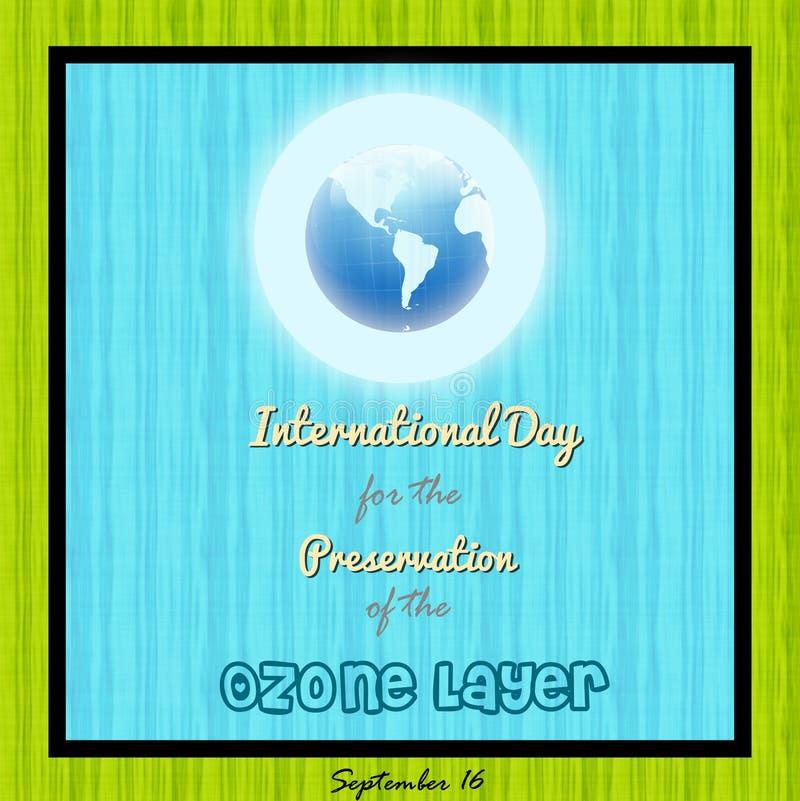 Jour international pour la conservation de la couche d'ozone illustration libre de droits