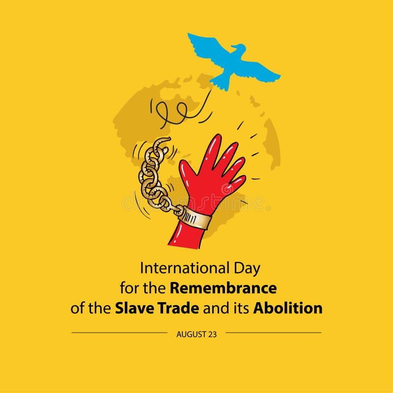 Jour international pour le souvenir de Trade slave et de son abolition illustration libre de droits