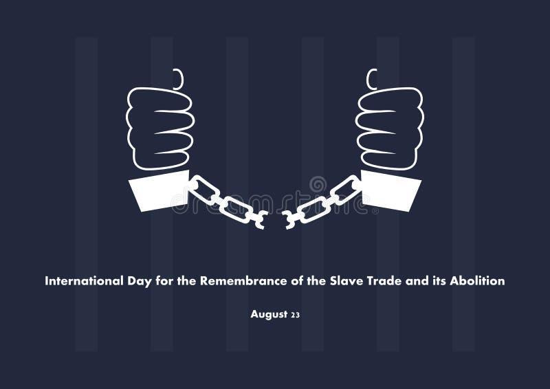 Jour international pour le souvenir de Trade slave et de son vecteur d'abolition illustration de vecteur