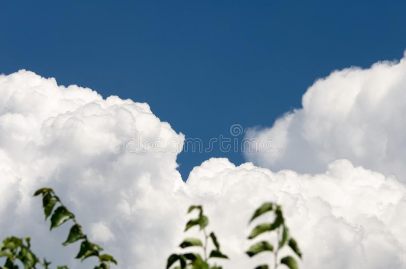 Jour magnifique des nuages photo libre de droits