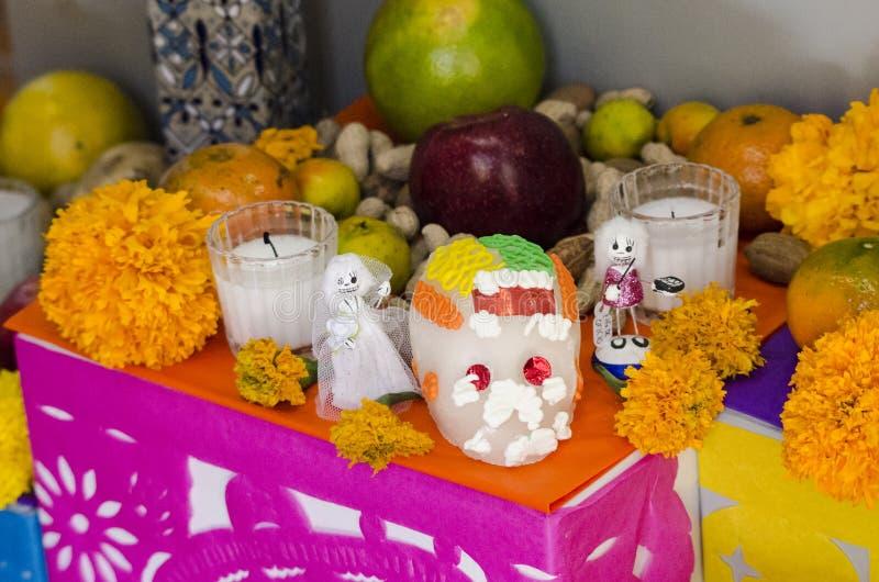 Jour mexicain de l'autel de offre mort photos libres de droits