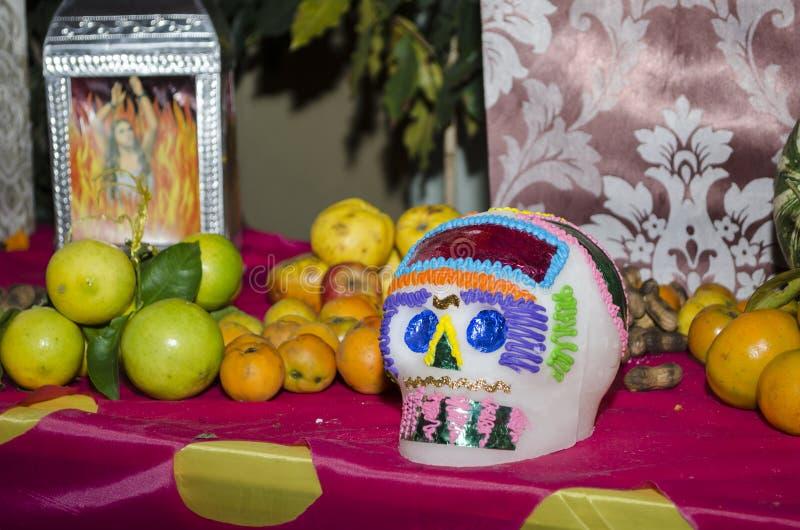 Jour mexicain de l'autel de offre mort image libre de droits